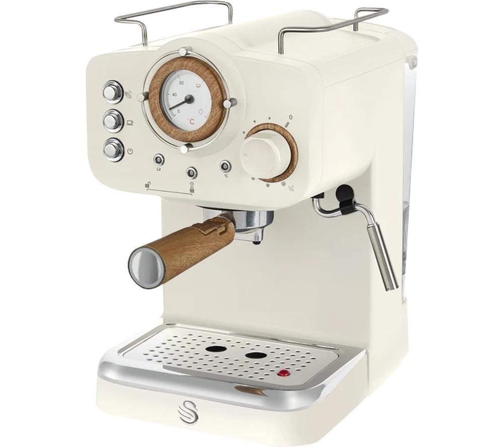 Buy SWAN Retro Pump Espresso SK22110WHTN Coffee Machine ...