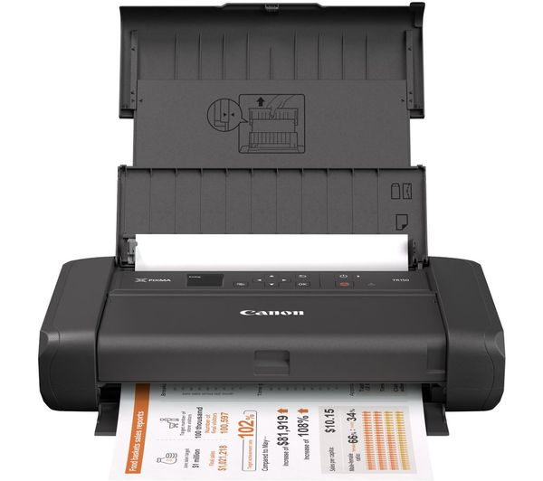 Image of CANON PIXMA TR150 All-in-One Wireless Inkjet Printer with Battery - Black
