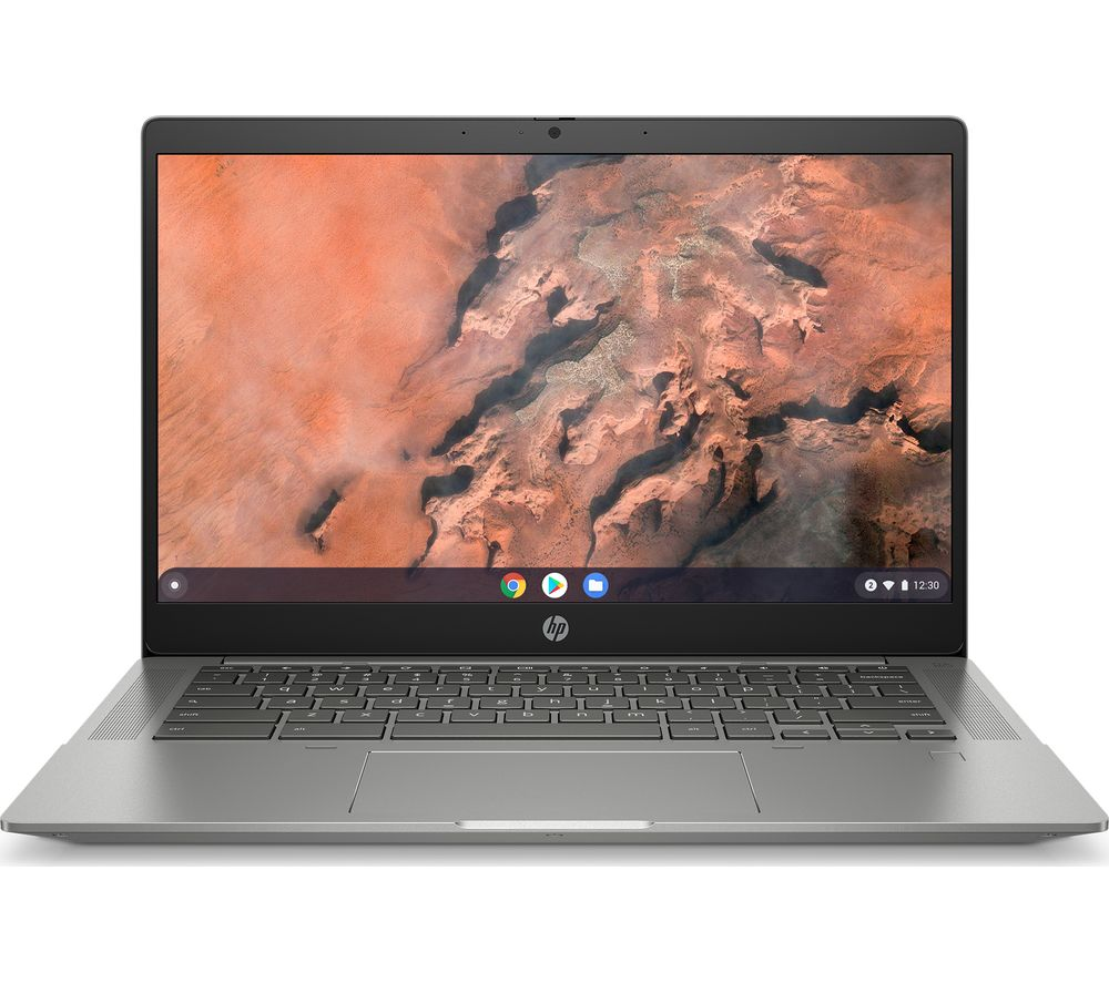 "Image of HP 14b-na0502na 14"" Chromebook - AMD Ryzen 5, 128 GB SSD, Silver, Silver"