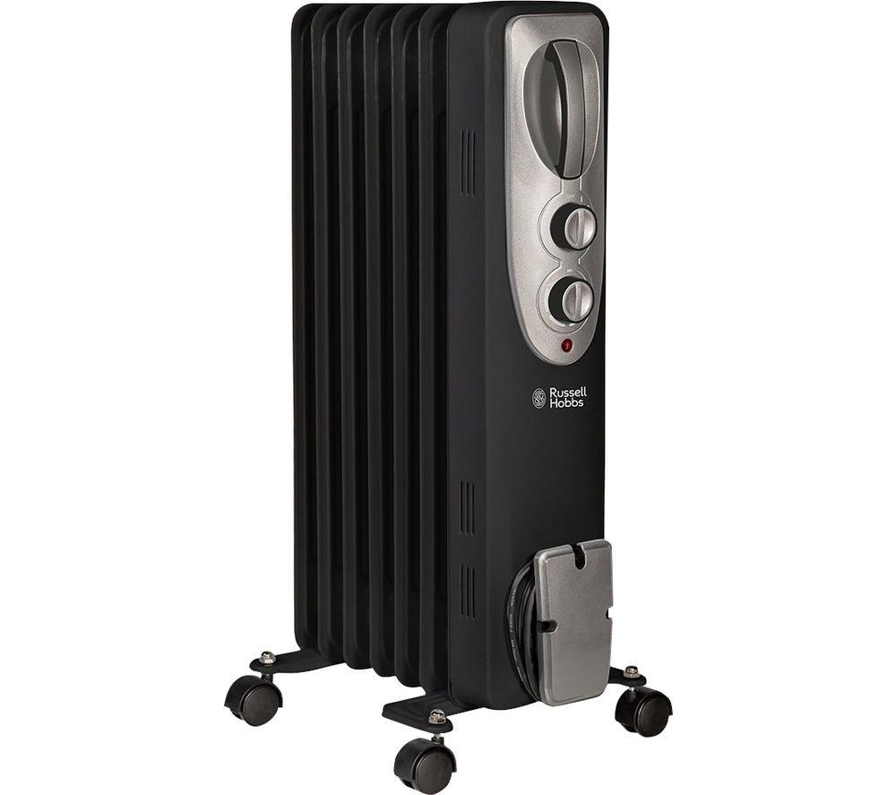 RUSSELL HOBBS RHOFR5001B Portable Oil-Filled Radiator - Black, Black