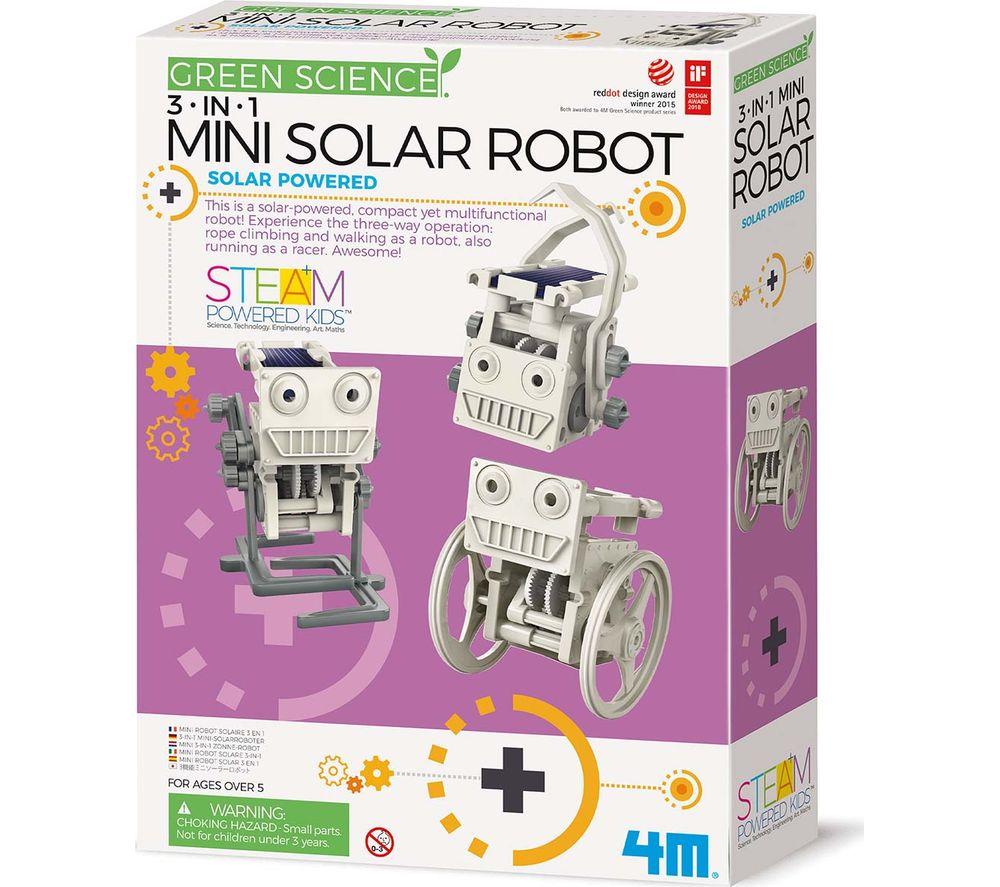 GREEN SCIENCE 3-in-1 Mini Solar Robot Science Kit