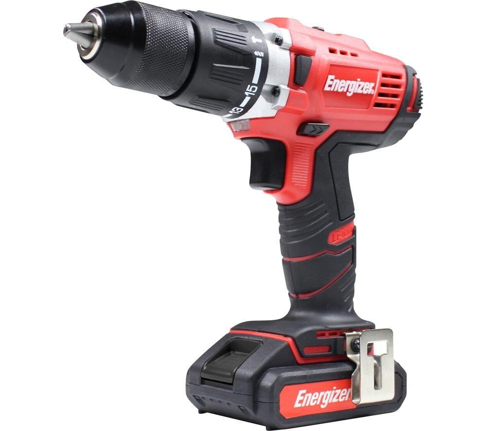 ENERGIZER EZPP18V2AUK Cordless Hammer Drill - Black & Red, Black