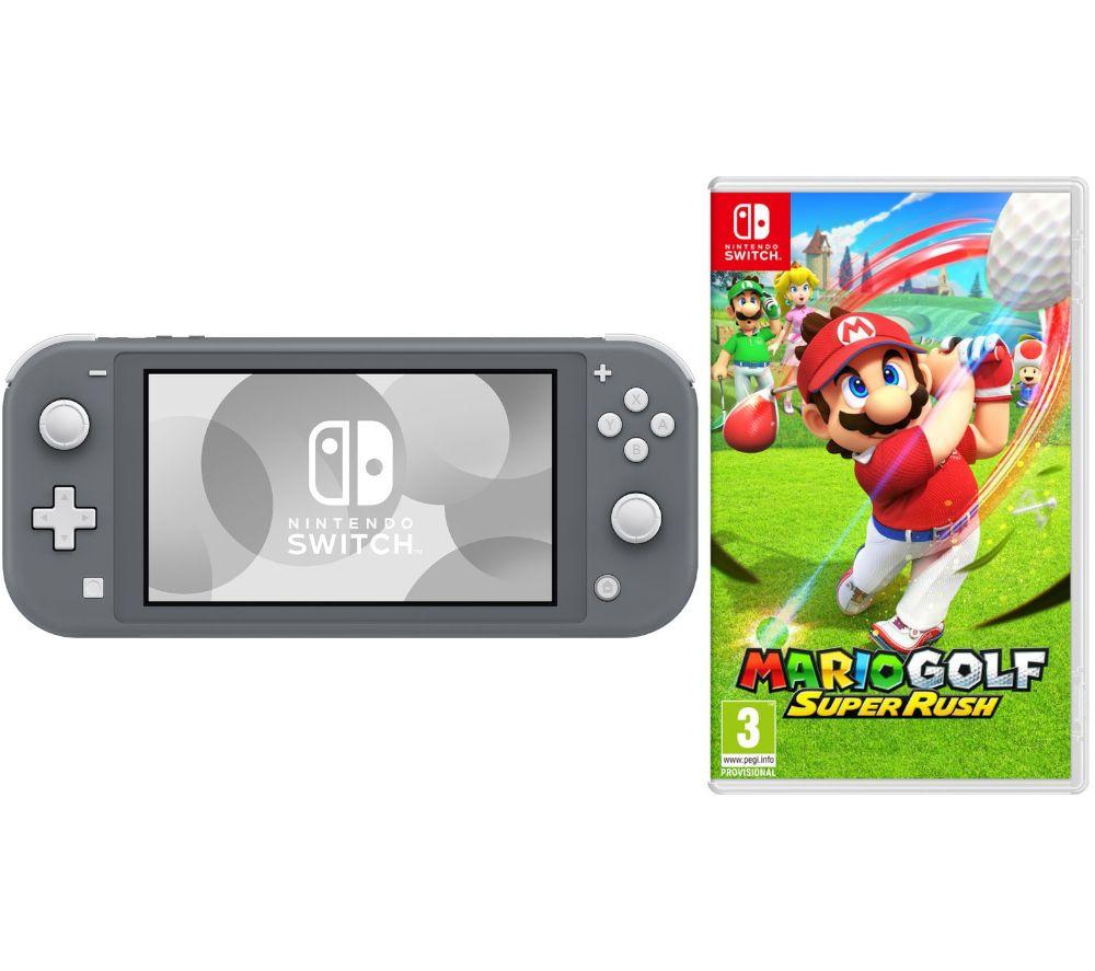NINTENDO Switch Lite Grey & Mario Golf: Super Rush