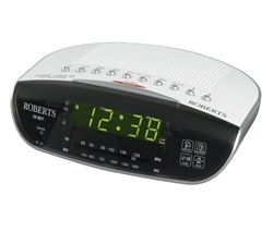 ROBERTS CR9971 Chronologic VI FM Clock Radio - Silver