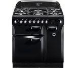 RANGEMASTER Elan 90 Dual Fuel Range Cooker - Black
