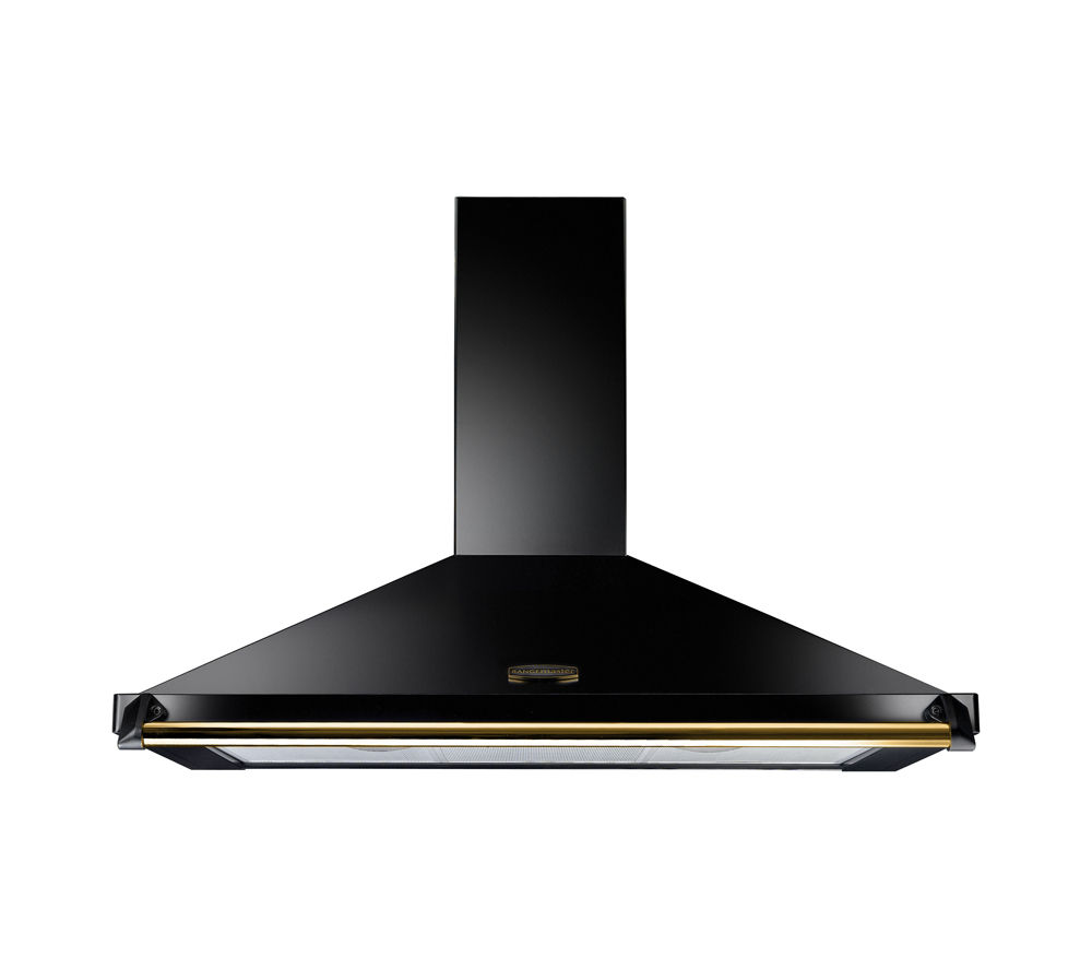 RANGEMASTER Classic CLAHDC110BB/ Chimney Cooker Hood - Black & Brass